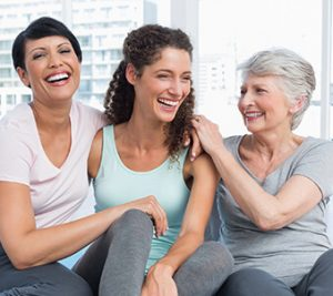 Patient care - image of three women of different generations