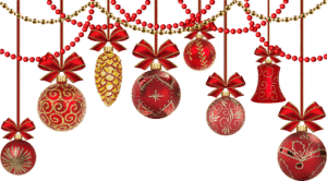Opening hours - red and gold festive decorations