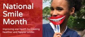 poster for National Smile Month 2018