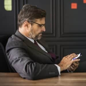 cancel your dental appointment shows business man on phone