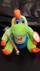 Dental Helath coordinators use this soft toy Brushasaurus