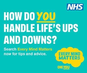 poster reads How do you handle life's ups and downs, for every mind matters campaign