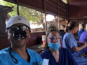 Nurse Emma SpaDental with a dentist in Cambodia