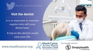 mouth cancer aware appeal to visit dentist