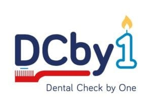 helping children shows the logo for Dental Check by 1, a toothbrush and paste.