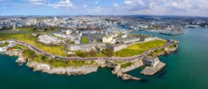 Aerial view of Citadel for support service veterans in Plymouth