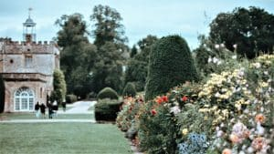 dentist Chard shows view of garden at ford abbey