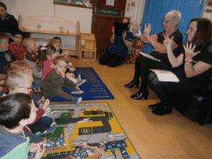 SpaDental NHS childrens dentist team talks to children in school