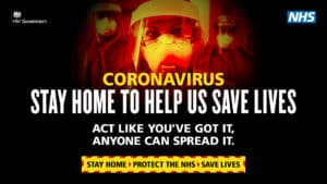 coronavirus urgent dental care hub stay at home poster