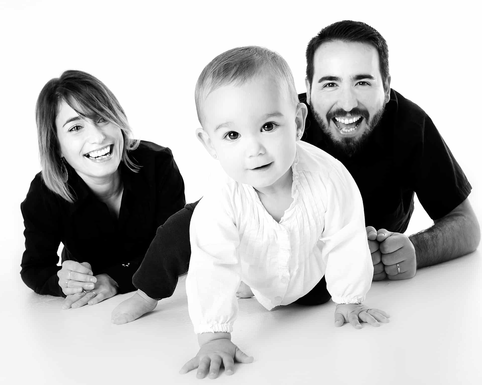 family of three balck and white love to see your children